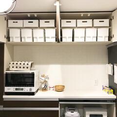 アクセントクロス/シンデレラフィット/インテリア/ニトリ/キッチン/収納 カップボードの吊り下げ収納です。 楽天で…