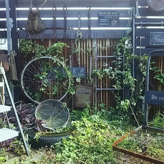 サビサビ/古道具/ジャンクガーデン/ジャンク/庭づくり/庭/... インダストリアルなかっこいい庭づくり✨の…
