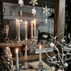 蝋台/蝋燭台/蝋燭/キャンドルホルダー/キャンドル/男前インテリア/... 今年のクリスマスもブランチツリーでシンプ…(1枚目)
