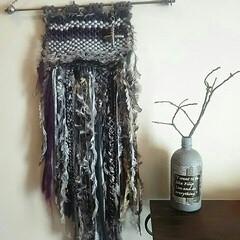 冬インテリア/チェーン/鎖/毛糸/ハンドメイド/手作り/... 何年か前に初めて作ったウィービング☆かわ…