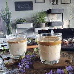 おうち時間/おうちカフェ/コーヒータイム/コーヒー/ダルゴナコーヒー/カフェタイム 今、話題のダルゴナコーヒーを作ってみまし…