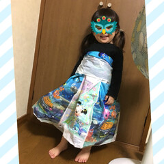 室内遊び/おもちゃ/子ども/ドレス/ビニール袋 今日のお姫様はディズニーの袋👗 なかなか…