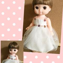 ファッション/子ども/ドレス/人形/ハンドメイド 夜な夜な作っていたレミン ちゃんのドレス…