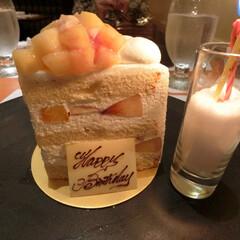 SATSUKI/新エキストラスーパーピーチショートケーキ/ホテルニューオータニ東京/数量限定/期間限定/誕生日ケーキ お誕生日ケーキを買う代わりに、食べに行っ…