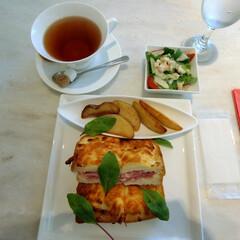 ロクシタンカフェ/ピエール・エルメ/カフェ/パリジャンクロックムッシュ/パンランチ/ランチ/... 渋谷にあるロクシタンカフェはピエール・エ…(1枚目)