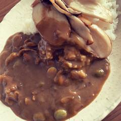 スタミナ/美味しい/ごはん/手作り/夕食/時短/... 暑い季節はニンニク入りのきのこカレー☆