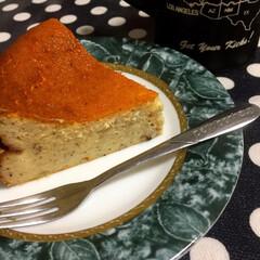 ご褒美/お祝い/おもてなし/ケーキ/簡単/フードプロセッサー/... 紅茶の粉をミルで挽いて焼き上げたチーズケ…