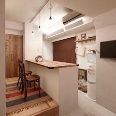 DIY/インテリア/住まい/リフォーム/キッチン/ペット/... 足場板再利用と収納アイデアでお気に入りの…