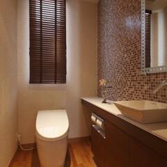 インテリア/住まい/リフォーム/収納/リノベーション/インテリアコーディネート/... 戸建リノベーションのトイレ。スタイリッシ…