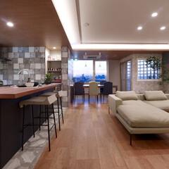 インテリア/家具/住まい/リフォーム/キッチン/収納/... マンションのリノベーション提案。対面キッ…