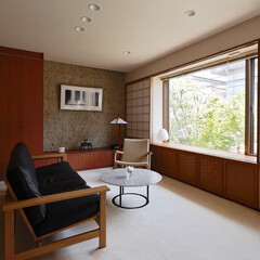 インテリア/家具/住まい/リフォーム/収納/リノベーション/... 和室だったお部屋を楓を眺めるリビング空間…