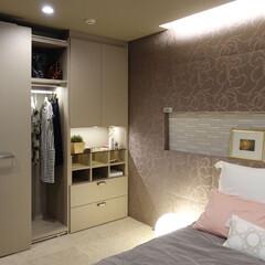 インテリア/住まい/リフォーム/収納/リノベーション/インテリアコーディネート/... ベッドルームのインテリア提案。床は足触り…