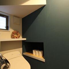 インテリア/住まい/リフォーム/収納/リノベーション/インテリアデザイン/... 戸建のトイレのリフォーム。階段下の限られ…