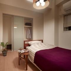 インテリア/家具/住まい/リフォーム/収納/リノベーション/... 賃貸マンションのリノベーション。寝室はモ…