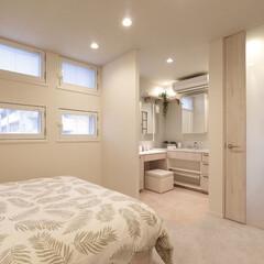 インテリア/住まい/リフォーム/収納/リノベーション/インテリアデザイン/... フェミニンな香り漂うベッドルームに、サロ…