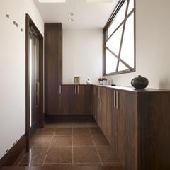 住まい/リフォーム/玄関/収納/リノベーション/インテリア/... 戸建のリノベーション。玄関ホールは2つの…