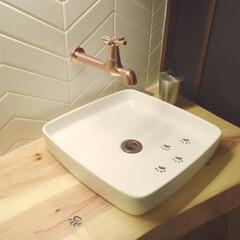 猫/インテリア/住まい/リフォーム/ミサワリフォーム株式会社/ミサワリフォーム/... トイレにキュートなアイテム提案。無垢材で…