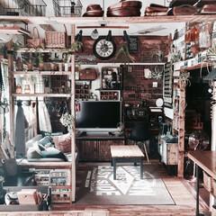 セルフリノベーション/賃貸インテリア/カフェみたいな暮らし/ラブリコ/リビング/グリーンのある暮らし/...