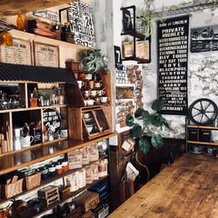 グリーンのある暮らし/カフェみたいな暮らし/ダイニング/DIY/ディアウォール/雑貨/...