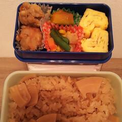 卵焼き/かぼちゃの煮物/から揚げ/タケノコご飯/お弁当 おはようございます 昨日、母親から下処理…