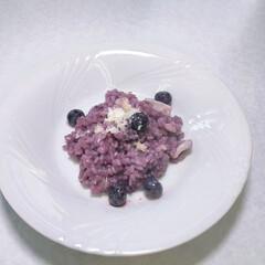 リゾット/ブルーベリー 以前、ベリーコテージのオーナー主催の料理…