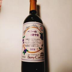 ワイン/ブルーベリー/ベリーコテージ 今年もブルーベリーのワインが出来上がりま…