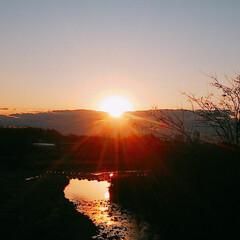 日の出/あけおめ アケオメー♪*゚٩(ˊᗜˋ*)و 毎年恒…