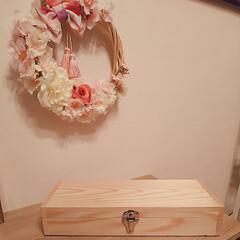 リミ友に感謝/こぐま工房/手作りリース/ピンク こんばんはー(^∇^*)ノ゚・:* 先程…