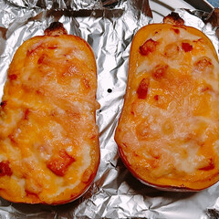 グラタン/バターナッツカボチャ こんばんは😲9月に入ってからほぼ雨の毎日…(1枚目)