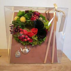 プリザーブドフラワー/リミ友さん作品/リミ友さんからの贈り物 (。・・)ノぉはょぅ♪ 今日は冷たい雨で…