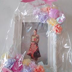 クレイコサージュ/R/Fさんのクレイ作品/母の日のプレゼント/親子三代/成人式前撮り/令和の一枚 (*≧∇≦)ノНёιισ❥❥ 待ちに待っ…