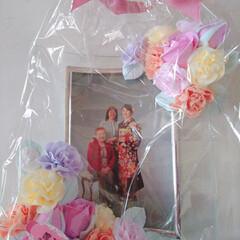 クレイコサージュ/R/Fさんのクレイ作品/母の日のプレゼント/親子三代/成人式前撮り/令和の一枚 (*≧∇≦)ノНёιισ❥❥ 待ちに待っ…(2枚目)