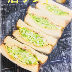 ランチ/沼サンド/記録/男子高校生お弁当 おはようございま-す☀️  今日は久しぶ…