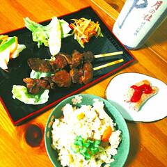 お酒のお供/炊き込みご飯/京都のお酒/宅飲み/宅めし/おうちごはん 本日のお酒のお供。 おみやげもらいました…