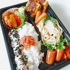 旦那弁当/夏野菜/ナポリタン/豚丼/お弁当/ハンドメイド/... ☀️💥💦暑くてもしっかり食べましょう😊バ…