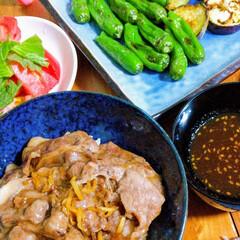 旦那弁当/夏野菜/ナポリタン/豚丼/お弁当/ハンドメイド/... ☀️💥💦暑くてもしっかり食べましょう😊バ…(2枚目)