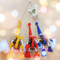 クリスマス小物/松ぼっくるちゃん/クリスマス/ハンドメイド/クリスマスツリー なんだかんだで3ヶ月ぶりでLIMIAにお…
