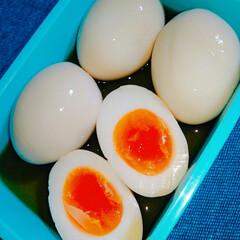 半熟味玉/紅あずまポテトサラダ/食事情/お弁当/暮らし/節約 お弁当用に作りおき🍱  🍀紅あずまポテト…(2枚目)