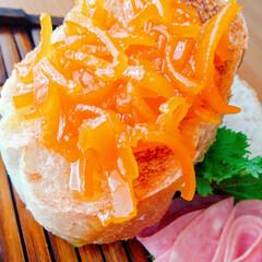 休日の朝食/パンが美味しい/マーマレード/ライフスタイル/暮らし/暮らしを楽しむ/... 大好きな柑橘系 (🍊♡‿♡🍊)……❣️❣…(2枚目)