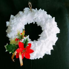 ベージュリース/ナチュラル/白いリース/モコモコリース/クリスマス2019/リミアの冬暮らし/... いよいよクリスマスカウントダウン🎵❇❇❇…