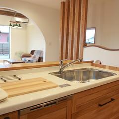 対面式キッチン/カントリー 対面式のキッチンは奥様大満足の空間です。