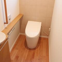 床暖房/TOTO/ナチュラル 長く居たくなる癒しのトイレ空間になりまし…