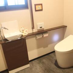 明るいトイレ/TOTO/ネオレスト 【After】 男子、女子に分かれていた…