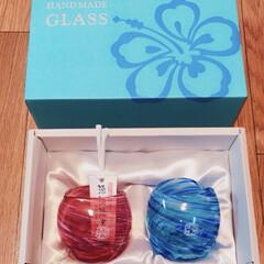 グラス/琉球ガラス/DIY/100均/セリア/ダイソー/... きれーい(*☻-☻*)