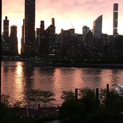 マンハッタン/ニューヨーク/景色/夜景/アメリカ 我が家の窓から見たマンハッタン。 とても…