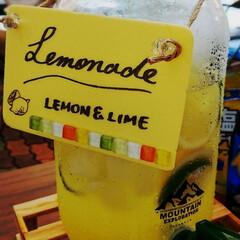 レモン+ライム/レモンスカッシュ/レモネード 昨日の海水浴イベントで 役員だったので …