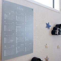 セリア/100均/カレンダー/雑貨/モノトーン雑貨/子供部屋/... セリアの「PPビッグカレンダー2020」…(1枚目)