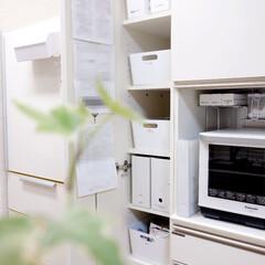 食器棚/パントリー/パモウナ/モノトーン/キッチン/IKEA/... わが家の食器棚。 食器棚の一番左、幅30…