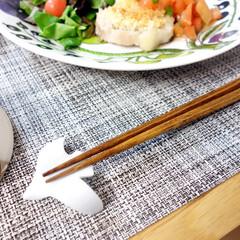 波佐見焼 essence フラップ 箸置き 5個セット(その他キッチン、台所用品)を使ったクチコミ「鳥の形をした、「フラップ」という箸置き。…」