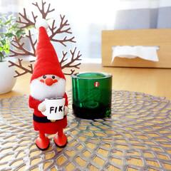 ノルディカニッセ/サンタクロース/サンタ/クリスマス/Xmas/雑貨/... ノルディカニッセの「マグカップを持ったサ…